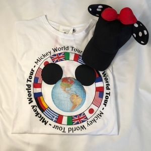 Zara x Disney Shirt with Minnie Mouse Hat